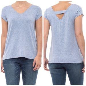 CATHERINE MALANDRINO | Blue Modal V-Neck Shirt